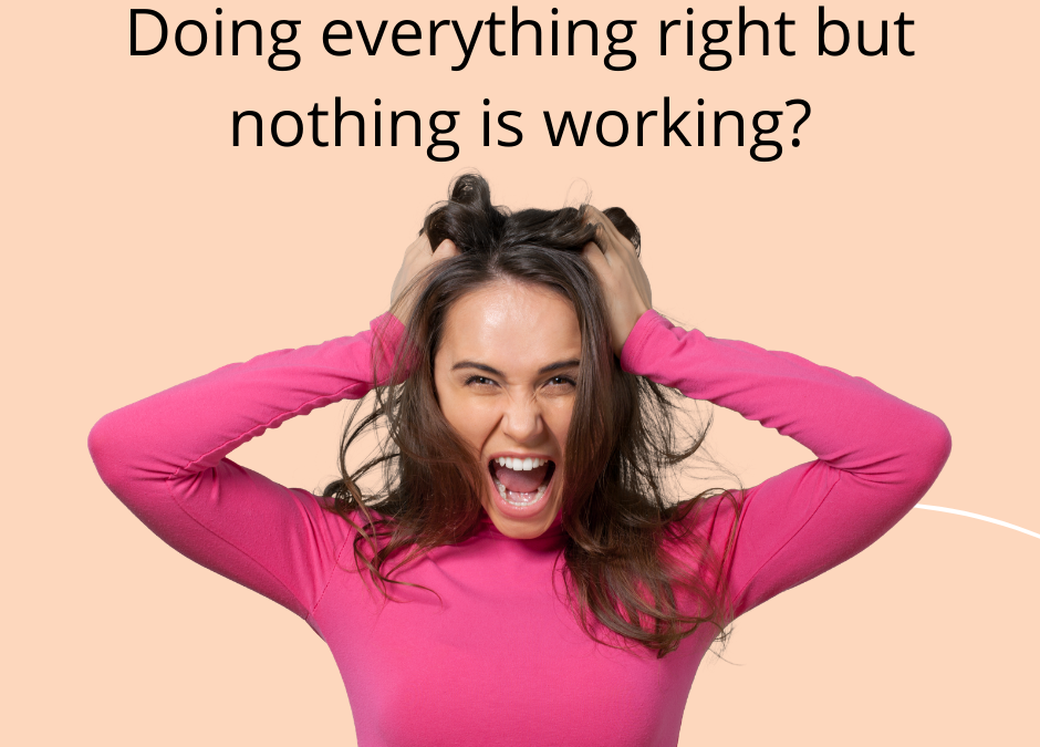Doing Everything Right and Nothing is Working