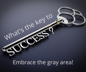 Embrace the gray area