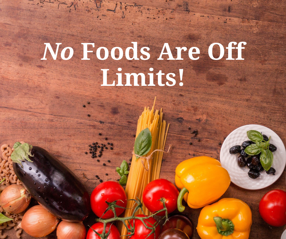 No foods are off limits